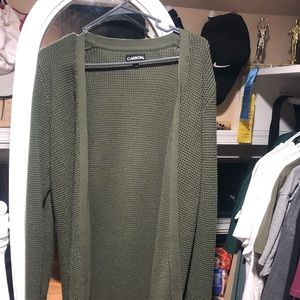 Size Medium men cardigan black and olive!
